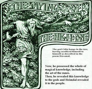 Odin in Yggdrasil