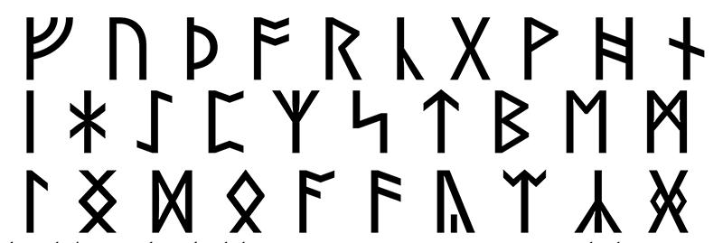 Futhork or Anglo Saxon Runes